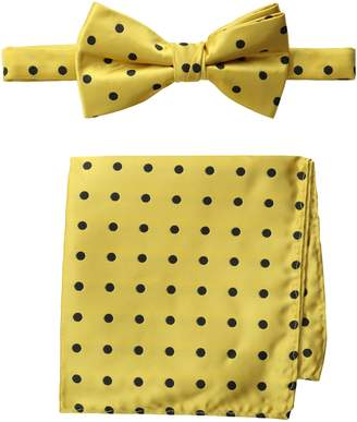 Stacy Adams Men's Satin Dot Bow Tie Set