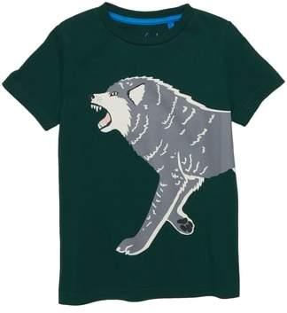 Boden Mini Glow in the Dark Wolf T-Shirt