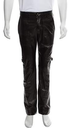 Marc Jacobs Leather Cargo Pants