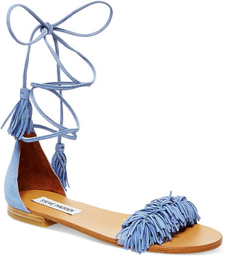 Steve Madden Women's Sweetyy Lace-Up Flat Sandals $89 thestylecure.com