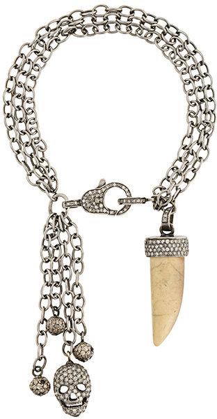 Loree RodkinLoree Rodkin chain charm bracelet with diamonds