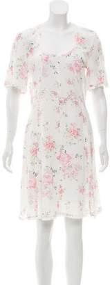 The Kooples Silk Floral Knee-Length Dress w/ Tags