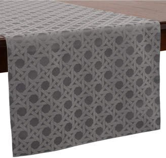"""Kate Spade Café Caning 15"""" x 72"""" Charcoal Table Runner"""