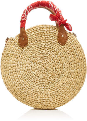 Poolside M'O Exclusive Le CIrcle Raffia Tote