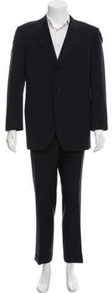 Pal Zileri Wool Three-Button Suit navy Wool Three-Button Suit