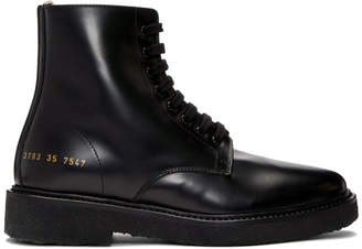 Common Projects Woman by SSENSE Exclusive Black Combat Boots