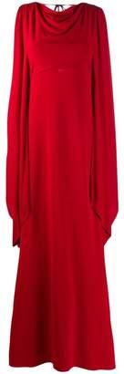 Alberta Ferretti cape maxi gown