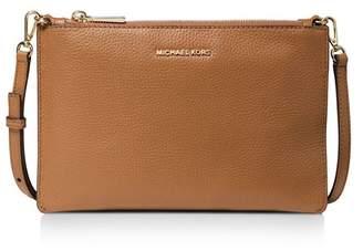 3994a7bf3c474 MICHAEL Michael Kors Gold Leather Crossbody Handbags - ShopStyle