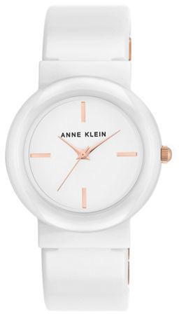 Anne KleinAnne Klein Round Bangle Bracelet Analog Watch