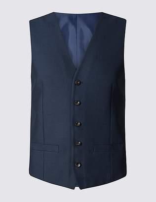 Marks and Spencer Indigo Slim Fit Waistcoat