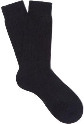 Pantherella Waddington Ribbed Cashmere-Blend Socks $70 thestylecure.com