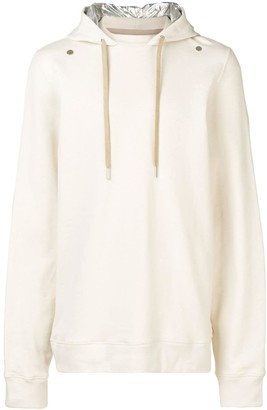 Zilver Hoodie in Organic Cotton and Contrast Hood in Recycled Nylon