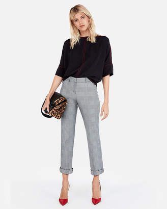 Express Contrast Stitch Cocoon Top