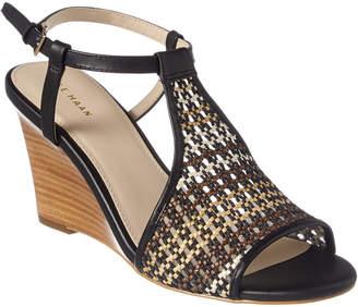 Cole Haan Maddie Leather Wedge Sandal
