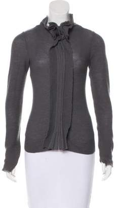 Emporio Armani Wool Blend Knit Cardigan