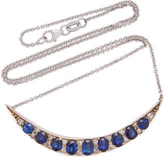 Chloé Toni + Goutal Silver Sapphire And Diamond Necklace