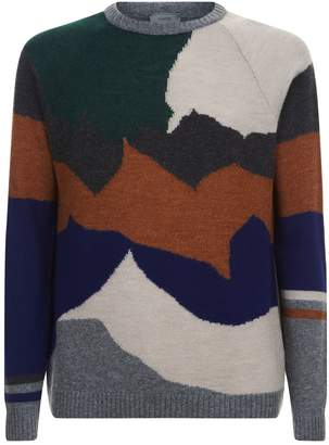 Lanvin Intarsia Colour Block Sweater
