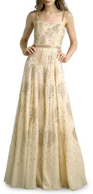 Basix II Beaded Sweetheart Strap Gown