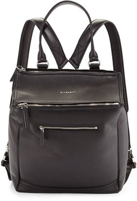 Givenchy Pandora Calfskin Leather Backpack, Black $2,490 thestylecure.com