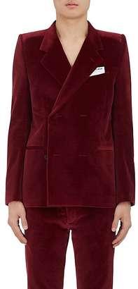 Balenciaga BALENCIAGA MEN'S VELVET DOUBLE-BREASTED SPORTCOAT $2,450 thestylecure.com