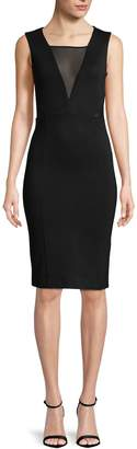 French Connection Women's Mesh Cut-Out Sheath Dress