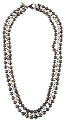 Fallon Crystal & Beaded Chain Multistrand Necklace