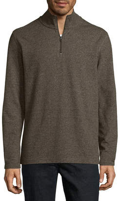 Claiborne Mens Mock Neck Long Sleeve Layered Sweaters