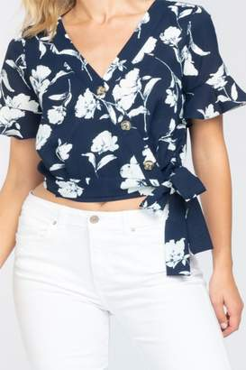 Everly Side-Tie Floral-Top