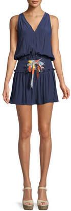 Ramy Brook Bianca Lace-Up Sleeveless Mini Dress