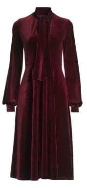 Black Halo Ruby Velvet A-Line Dress