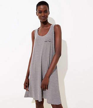 LOFT Striped Swing Pajama Dress