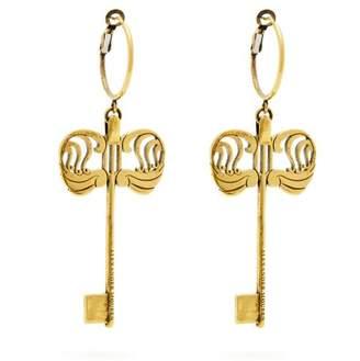 Alexander McQueen Key Drop Earrings - Womens - Gold