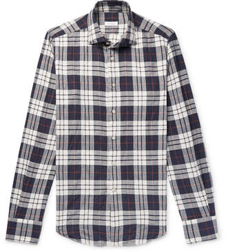Incotex Slim-Fit Checked Stretch-Cotton Twill Shirt