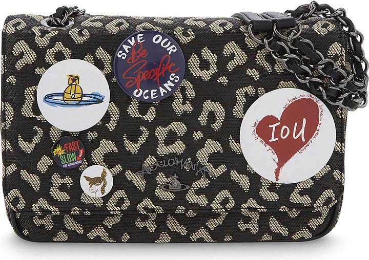 Vivienne WestwoodVivienne Westwood Avon woven leopard pattern shoulder bag