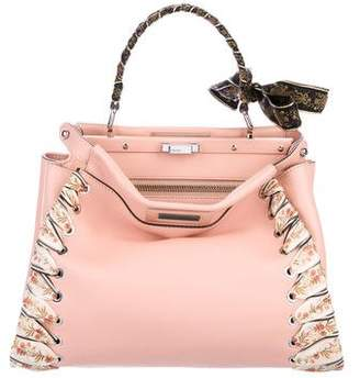 Fendi Medium Peekaboo Ribbon Whipstitch Bag