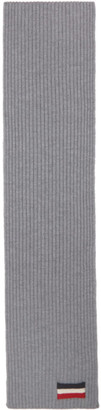 Moncler Grey Tricot Scarf