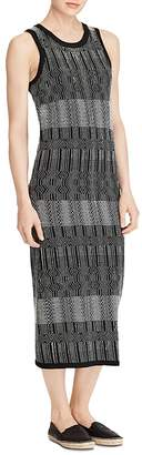Lauren Ralph Lauren Jacquard-Knit Midi Dress