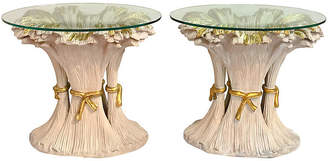 One Kings Lane Vintage Palm Beach Style Wheat Consoles,Pair