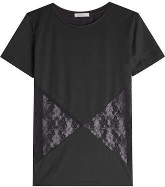 Nina Ricci Cotton T-Shirt with Lace