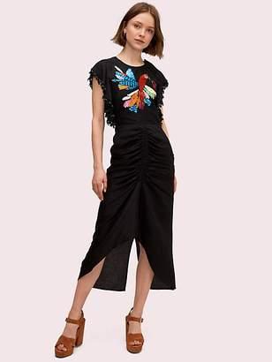 Kate Spade Embellished Parrot Dress, Black - Size 0