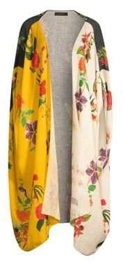 Carolina K. Linen Floral Scarf Jacket