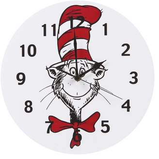 """Trend Lab Dr. Seuss Cat in the Hat 11"""" Wall Clock"""