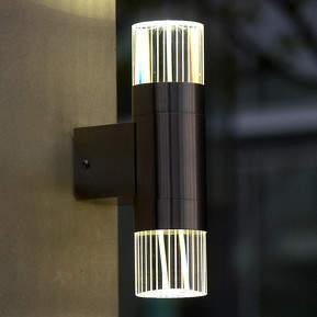 Durban - LED-Wandlampe aus Edelstahl für außen