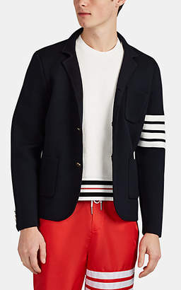 Thom Browne Men's Compact Knit Wool Sportcoat-Style Cardigan - Navy