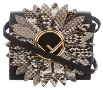 Fendi Kan I Snakeskin-Accented Leather Micro Bag Black Kan I Snakeskin-Accented Leather Micro Bag