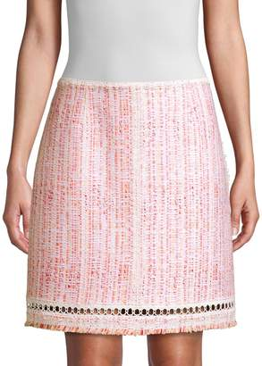 Elie Tahari Cochi Tweed A-Line Skirt
