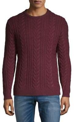 Black & Brown Black Brown Cable Wool Crewneck Sweater