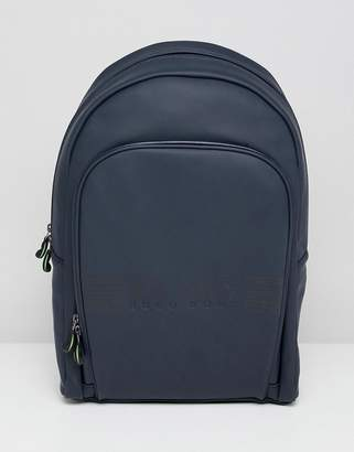 BOSS Pixel R Rubberised Backpack in Navy