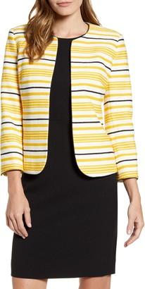 Anne Klein Stripe Tweed Jacket