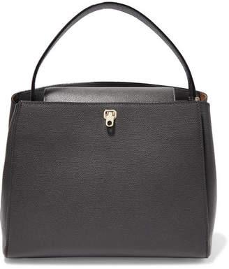 Valextra Brera Textured-leather Tote - Gray